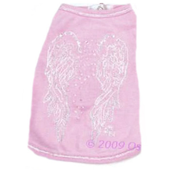 Angel Wings Dog Tee - Pink