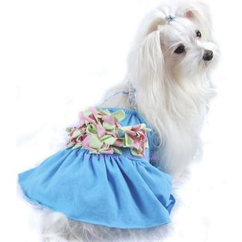 Floral Braided Tank Dog Dress