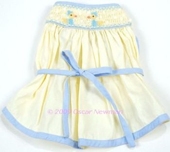 Duckie Hand-Smocked Pet Dog Dress