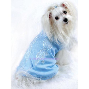 Angel Wings Dog Tee - Blue