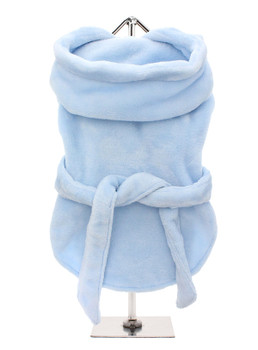 Plush Blue Pet Dog Robe - Monogramming Available