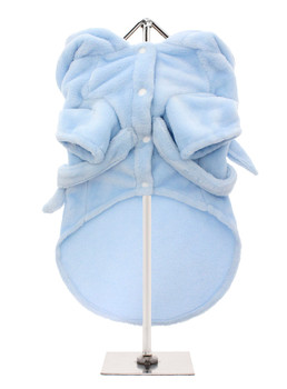 Plush Blue Pet Dog Robe - Monogramming Available