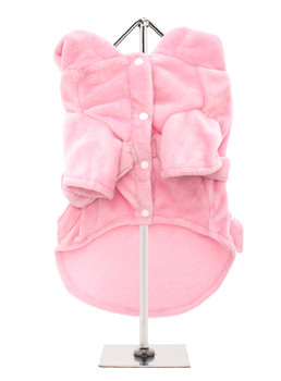 Plush Pink Pet Dog Robe - Monogramming Available