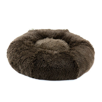 Chocolate Shag Dog Bed