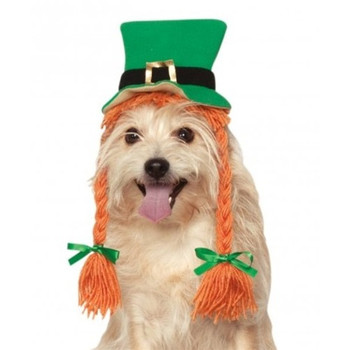 St. Patty's Day Pet Hat With Braids