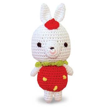 Rabbit PAWer Squeaker Dog Toy