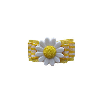 Yellow Daisy Barrette by Ruff Ruff Couture