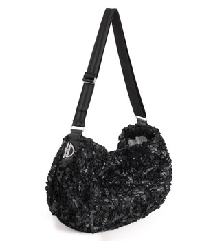 Victorian Luxury Pet Dog Messenger Sling - Black