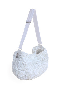 Victorian Luxury Pet Dog Messenger Sling - White