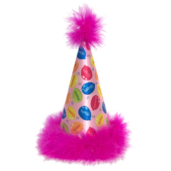 Party Time Pink Dog Hat