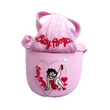 Betty Boop Hearts Pink Dog Visor Cap