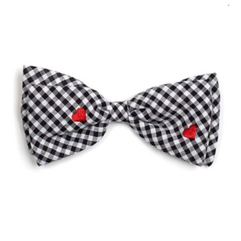 Gingham Hearts Pet Dog Bow Tie
