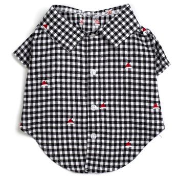 Gingham Hearts Pet Dog Shirt - Small - Big Dog