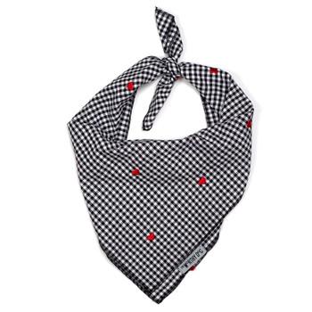 Gingham Hearts Dog Tie Bandana