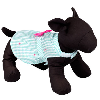 Gingham Pink Flamingos Pet Dog Dress - Small - Big Dog