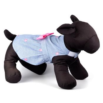 Wilbur Pig Chambray Pet Dog Dress - Small - Big Dog