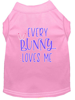 Every Bunny Loves Me Screen Print Dog Shirt / Tank - 12 Colors