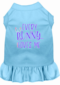 Every Bunny Loves Me Screen Print Dog Dress -10 Colors