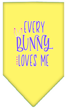 Every Bunny Loves Me Tie-on Pet Dog Bandana