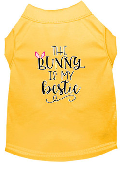 The Bunny is My Bestie Screen Print Dog Shirt / Tank - 12 Colors