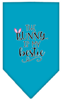 The Bunny is My Bestie Tie-on Pet Dog Bandana
