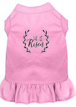 He is Risen Screen Print Dog Dress -10 Colors