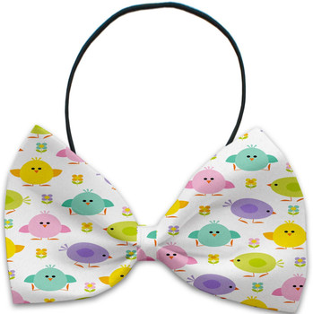 Easter Chickadees Pet Dog Bow Tie