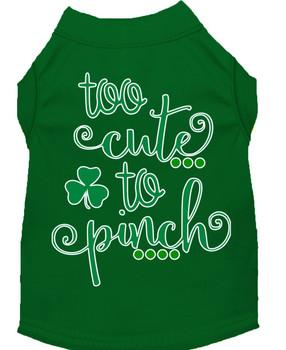 Too Cute to Pinch Screen Print Dog Shirt / Tank - 6 Colors