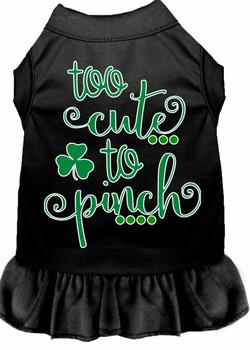 Too Cute to Pinch Screen Print Dog Dress - 4 Colors