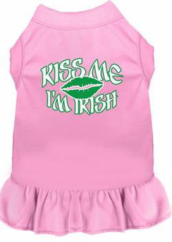 Kiss Me I'm Irish Screen Print Dog Dress - 8 Colors