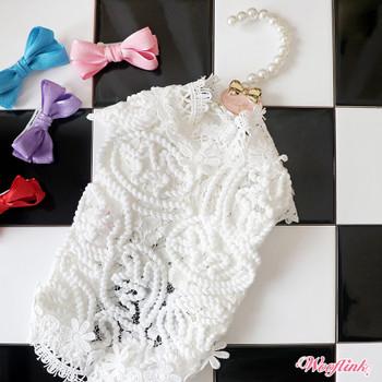 Wooflink Angelic Lace Dog Blouse - White
