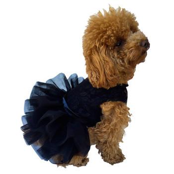 Fufu Tutu Dog Dress - Black
