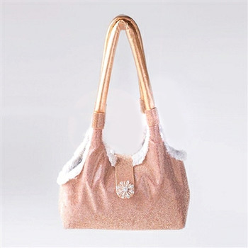 Champagne Imperial Crystal Pet Dog Carrier