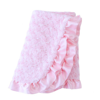 Baby Pet Dog Ruffle Blanket - Baby Pink