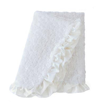 Baby Pet Dog Ruffle Blanket - Cream