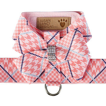 Peaches N Cream Glen Houndstooth Nouveau Bow Tinkie Harness