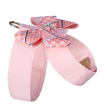 Glen Houndstooth Nouveau Bow Tinkie Harness - Choose Color