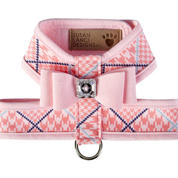 Peaches N Cream W/Trim & Big Bow Puppy Pink Tinkie Harness