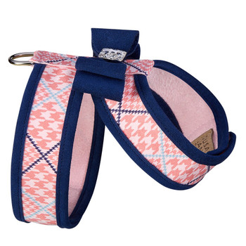 Peaches N Cream W/Trim & Big Bow w/Indigo Trim  Tinkie Harness