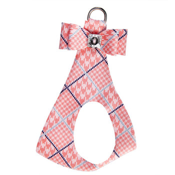Peaches N Cream Glen Houndstooth Big Bow Step In Harness
