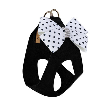 Polka Dot Nouveau Bow Step In Harness - Black
