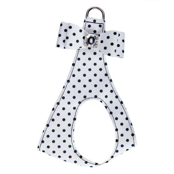 Polka Dot Big Bow Step In Harness