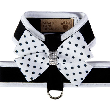 Polka Dot Nouveau Bow Tinkie Harness with Trim
