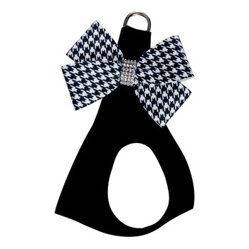 B&W Houndstooth Nouveau Bow Step In Harness