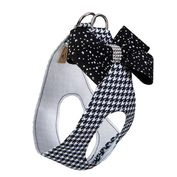 B&W Houndstooth Stardust Black Nouveau Bow Step In Harness