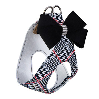 Classic Glen Houndstooth Black Nouveau Bow Step In Harness