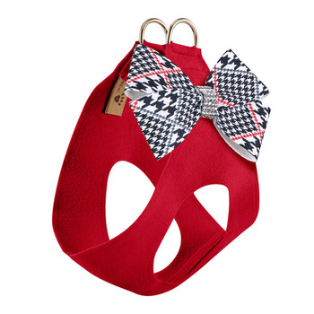Classic Glen Houndstooth Nouveau Bow Step In Harness - Choose Color