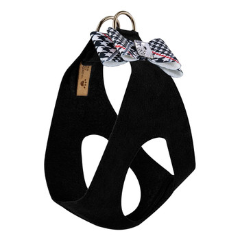 Classic Glen Houndstooth Big Bow Step In Harness - Choose Color