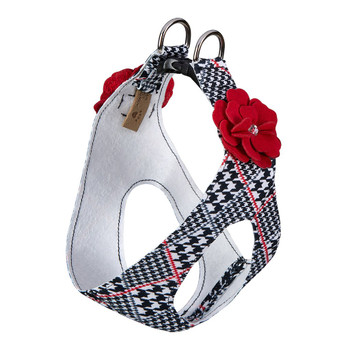Classic Glen Houndstooth Red Tinkie's Garden Flower Step In Harness