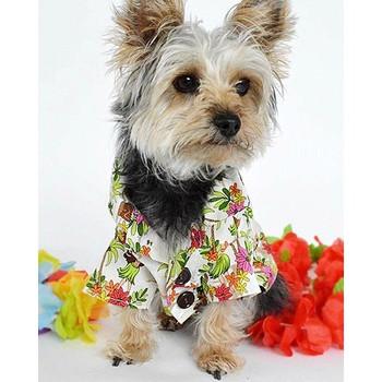 Cotton Hawaiian Hula Dancer Dog Shirt